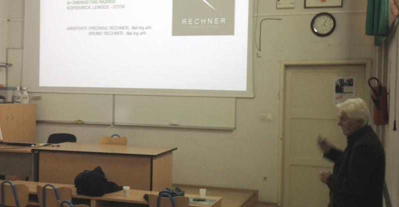 Arhitekt Predrag Rechner održao predavanje na Građevinskom fakultetu u Osijeku